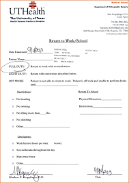 printable doctors note for work 6 doctor note template authorizationletters org