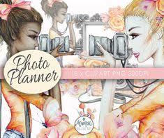 Photography Clip Art, camera <b>Girl</b> Clipart, <b>Fashion</b> Illustration ...