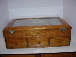antique optometrist 2 section optical oak display case penn fl antiques ruby lane