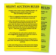 Silent Auction Bid Numbers Silent Auction Bid Sheet Google Search