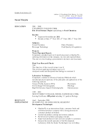 Sample Resume For Science Majors Science Resume Examples 20 The