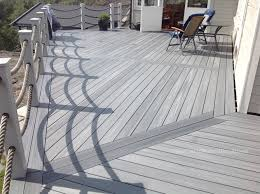 gray composite decking. Wonderful Composite Picture Shown UltraShield_Capped_Composite_Decking_in_Norway_2015 In Gray Composite Decking