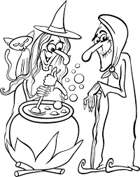 Free Printable Halloween Witches Coloring Page For Kids 1 Supplyme