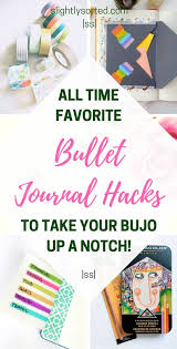 Bullet journal hacks 14 genius ideas to steal slightly sorted