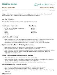 Weather Station Lesson Plan Education Com Lesson Plan