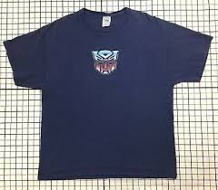 Neon Transformer Sizing Chart Transformers Vintage Autobot Logo T Shirt 14 99 Picclick