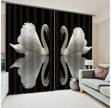 White And Black Curtains For Living Room Online Get Cheap White Blackout Curtains Aliexpresscom Alibaba