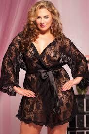 plus size robes black sexy paisley pleasure lace robe plus size