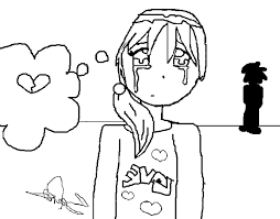 fantastic little girl crying coloring page with little girl ...