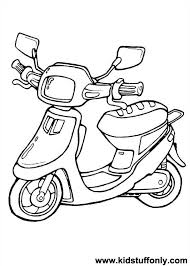 Razor Coloring Pages Gorgeous Scooter Kid Stuff Only Ideas Zfcampus