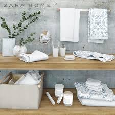 Bathroom accessories ZARA HOME 3D model towel   CGTrader