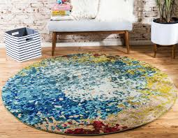 6 x 6 rug. Area Rugs With Circle Pattern Luxury Blue 6 X Casablanca Round Rug Esalerugs