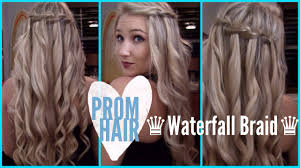 You Tube Hair Style  prom hair how to waterfall braid youtube 3095 by wearticles.com