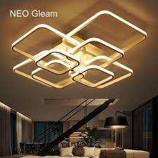 <b>Rectangle</b> Acrylic Aluminum <b>Modern Led ceiling</b> lights for living ...