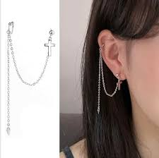 <b>Hfarich</b> 1Pc Cool <b>Korean Fashion</b> Long Chain Link Kpop Earings ...