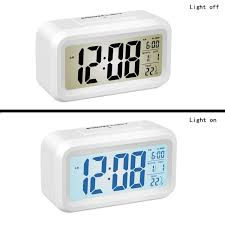 image of large atomic digital wall clock with indoor outdoor temperature and date