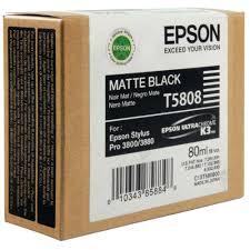 <b>Epson T5808 Matte Black</b> Inkjet Cartridge C13T580800 / T5808