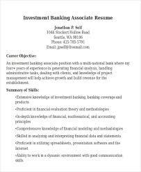 sample resume for investment banking 21 banking resume templates pdf doc free premium