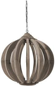 Laura Brown Wood Hanging Lamp With Bars Cfs Furniture Uk