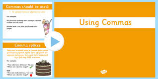 Using Commas Powerpoint Commas Powerpoint Use Punctuation