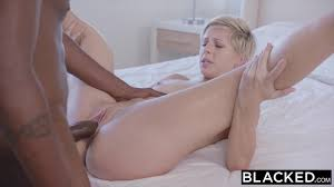 Sexy blonde Kimberly Moss puts her skills to work in interracial.