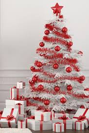 Astounding White Christmas Tree With Red Decorations 39 For Room Decorating  Ideas with White Christmas Tree With Red Decorations