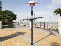 sunglo steel black permanent post