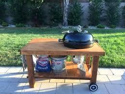 weber grill table kettle homemade