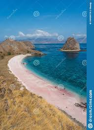 Sarai Beach Or Pink Beach In Komodo National Park In Beautiful Summer Season,  Flores Island In Indonesia Stock Photo - Image of asia, boat: 193926776