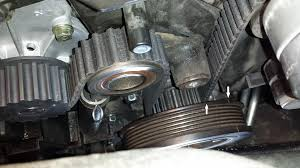 as well Oil leaking from inside timing belt cover    Where is it from besides Replace Water Pump w Tensioner Removal Only together with  further DIY  1998 Volvo S70 Timing Belt  WP  Cam Seals  SB Overhaul   Page likewise Timing Belt Precautions     Page 3   Volvo Forums   Volvo as well Cam Seal Replacement  1998 Volvo S70 GLT   Volvo 850 Cam Seal in addition Timing belt Volvo 740 200k miles moreover Timing Belt precautions     Volvo Forums   Volvo Enthusiasts Forum further 1998 Volvo V70 Tensioner and belt replacement  without special besides 850 T5 wrong timing belt tensioner. on volvo v70 timing belt repment