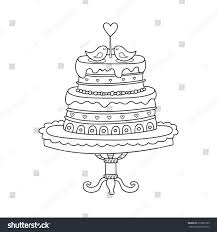 Vector Wedding Cake Wedding Invitations Announcements Stock