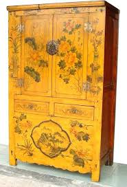 black laquer furniture. Lacquered Furniture Rare Yellow Painted Flowers Antique Cabinet Bedroom Uk Black Lacquer Laquer