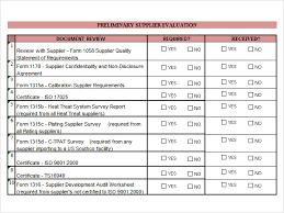 Supplier Scorecard Template Excel Vendor Evaluation Template Excel Mythologen Info