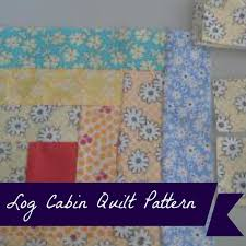 Log Cabin Quilt Pattern Using Jelly Roll