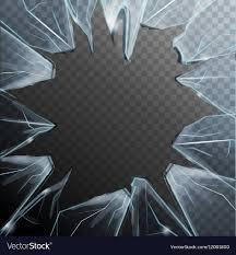 broken glass frame royalty free vector