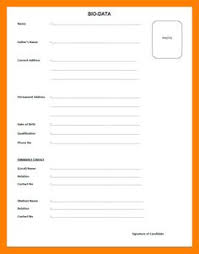 biodata form job application careers bio data format biodata form format for job application free