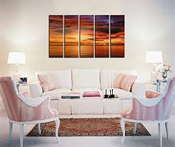 framed wall art for office sunset seascape painting pictures canvas prints wall art art for office walls