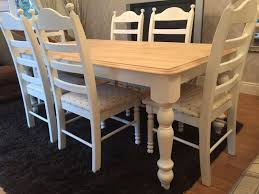gorgeous 6ft shabby chic chunky oak farmhouse table and 6 lovely chairs