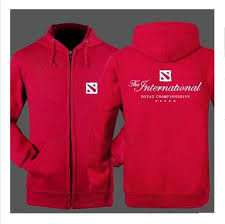 dota 2 game zip up hoodies for men plus size sweatshirt so skull