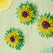 Tissue Paper Flower Centerpieces Us 4 88 17 Off 3pcs Sunflower Pom Pom Tissue Paper Flowers Summer Wedding Birthday Baby Shower Wall Backdrop Centerpiece Party Decorations In Party