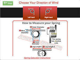 Torsion Spring Size Chart Torsion Spring Calculator Instructions Quality Spring