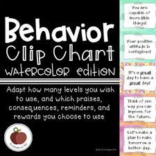 Behavior Chart Mix Match Growth Mindset Watercolor