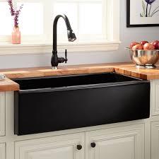 Black Apron Front Kitchen Sink Fireclay Farmhouse Kitchen Sinks Signature Hardware