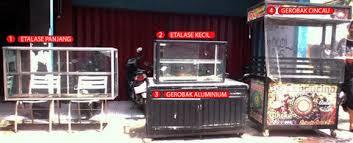 Hasil gambar untuk ETALASE GEROBAK