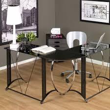 glass l shaped desk