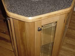 Laminate countertops with wood edge banding