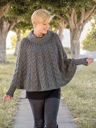 Knit Poncho Pattern Gorgeous ANNIE'S SIGNATURE DESIGNS Forevermore Poncho Knit Pattern