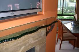 fireplace mantel shelf chipped and polished edge glass by sans soucie