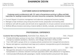 Resume For Customer Service Representative Adorable Sample Customer Service Resume Customer Service Representative