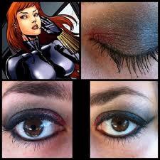 black widow inspired eye shadow part of my superhero theme makeup